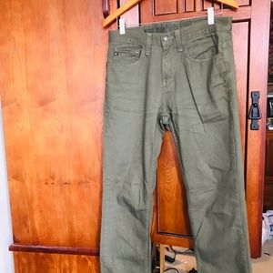 30 X 30 Olive Green Chinos